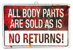 All Body Parts Are Sold As Is