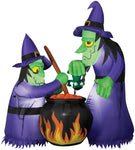 Airblown Double Bubble Witches with Cauldron Inflatable