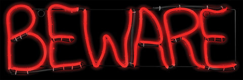 "Beware Short Circuit ""Light Glo"" LED Neon Sign"