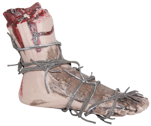 Bloody Foot with Barbed Wire