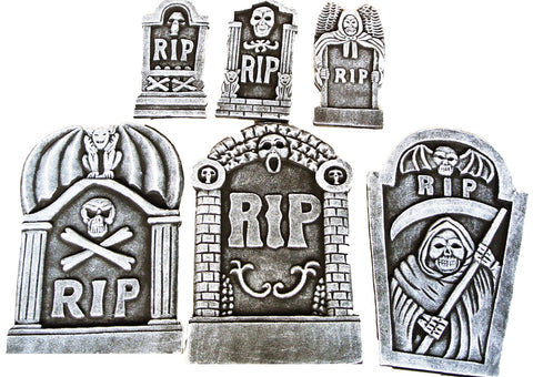 RIP Tombstone Kit - Pack of 6
