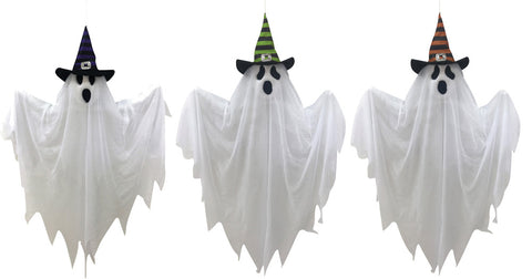 "28"" Witch Hat Ghost- Set of 3"