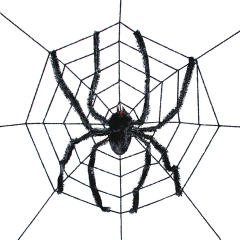 8' Spiderweb with Spider