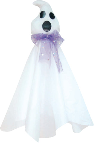 "35"" Hanging Ghost with Purple Tie"