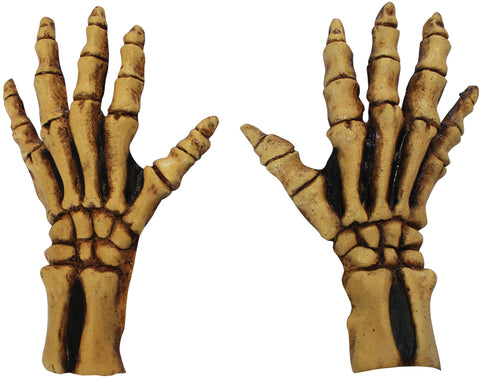 Bone Color Skeleton Hands - Adult