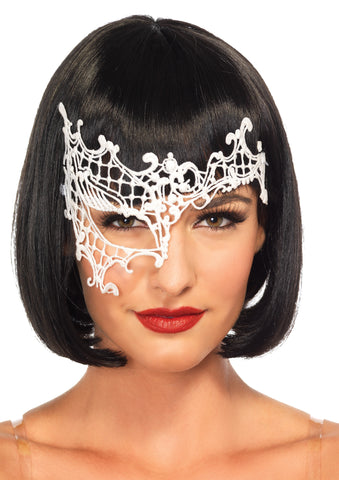 Women's White Daring Venetian Mask