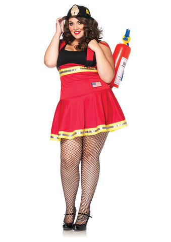Women's Plus Size Three Alarm Hottie Costume