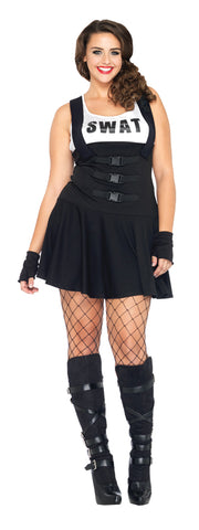 Women's Plus Size Sultry SWAT Officer Costume
