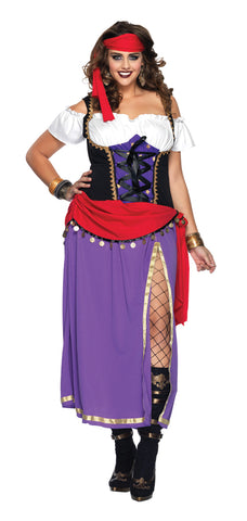 Women's Plus Size Traveling Gypsy Costume