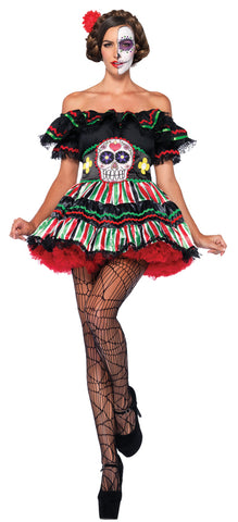 Women's Day of Dead Doll Costume