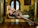 Bodystocking W/Ribbon Bk/Rd