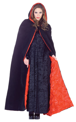 "63"" Deluxe Velvet Hooded Cape"