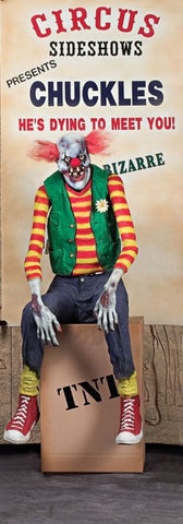 "65"" Chuckles Clown Animated Prop"