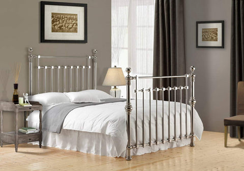 Chrome Double Metal Bed Frame
