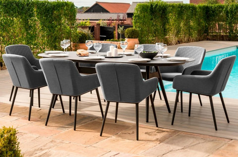 8 Seat Oval Dining Set