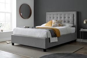 Bedmaster Brandon Grey Fabric Ottoman Bed-Better Bed Company
