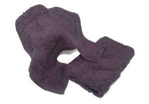 2 Piece Cotton Bathroom Set Aubergine-Better Bed Company