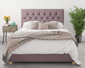 Better Finchen Blush Plush Ottoman Bed-Ottoman Beds-Better Bed Company