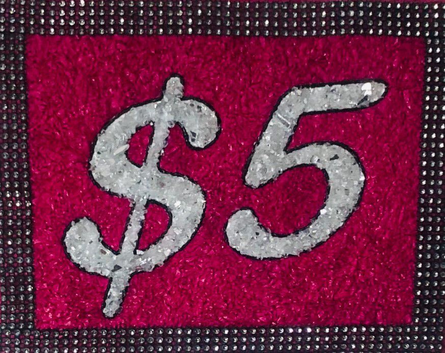 8 x 10 Pink and Black Bling sign