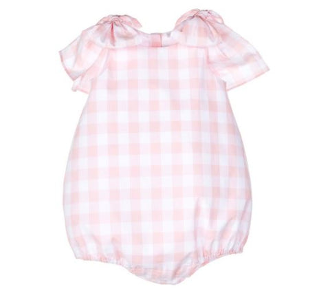 PINK GINGHAM BOW BUBBLE