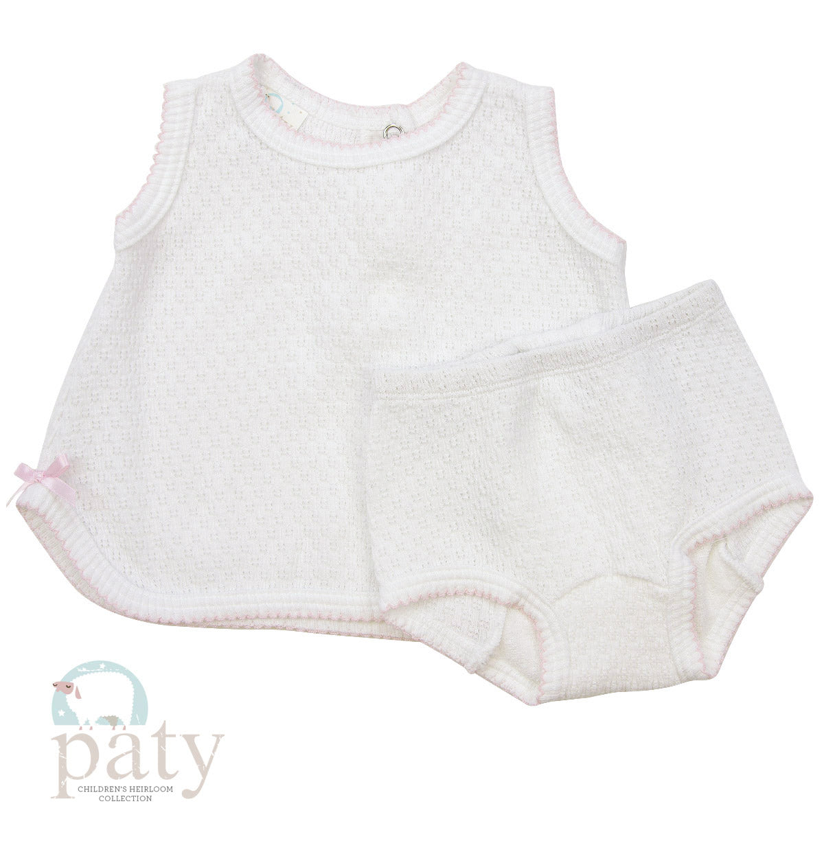 2PC SET, SLEEVELESS TOP W/ DIAPER COVER #136