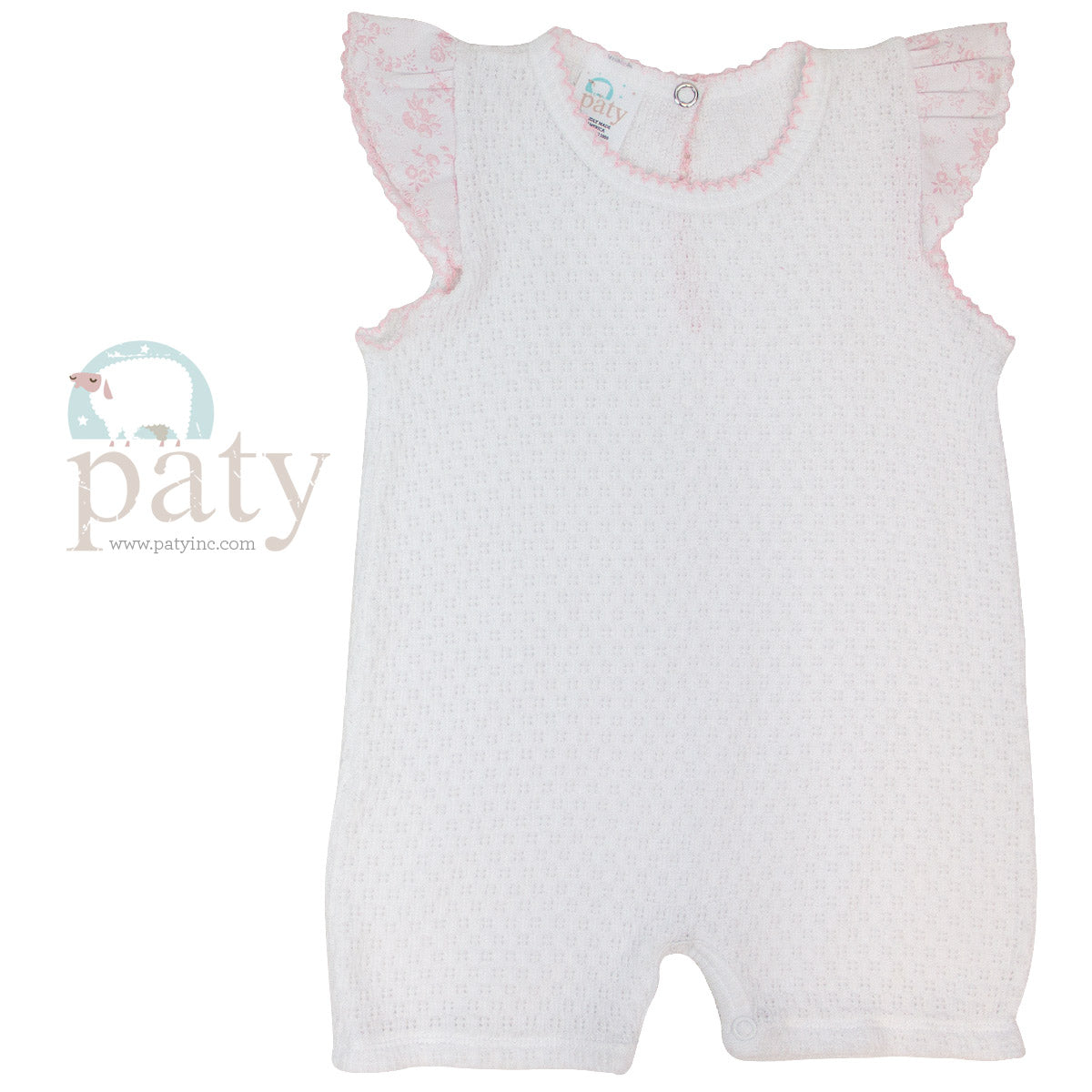 WHITE BUBBLE WITH PINK TOILE TRIM #16S114T