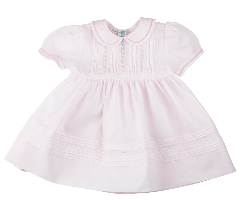 GIRL'S PINTUCKS & LACE DRESS