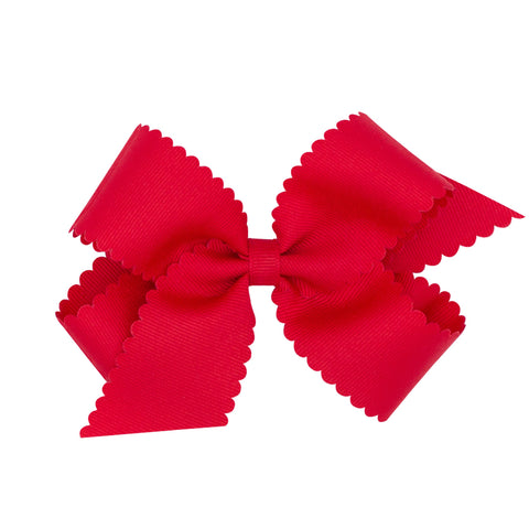 MEDIUM SCALLOPED EDGE GROSGRAIN BOW