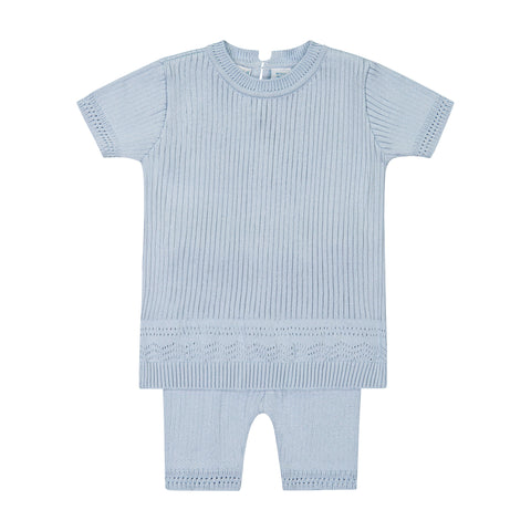 BOYS POINTELLE RIBBED SET