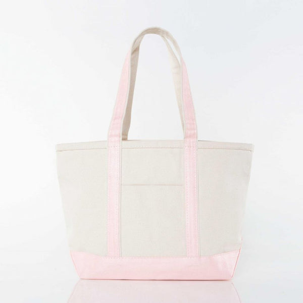 METALLIC MEDIUM BOAT TOTE