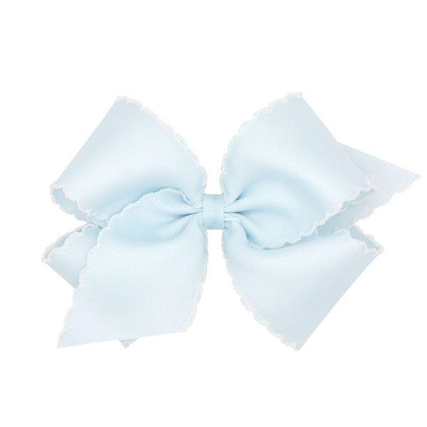 King Grosgrain Bow with White Moonstitch Edge