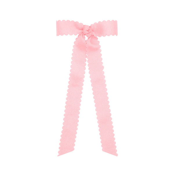 MINI SCALLOPED EDGE GROSGRAIN BOW WITH STREAMER TAILS