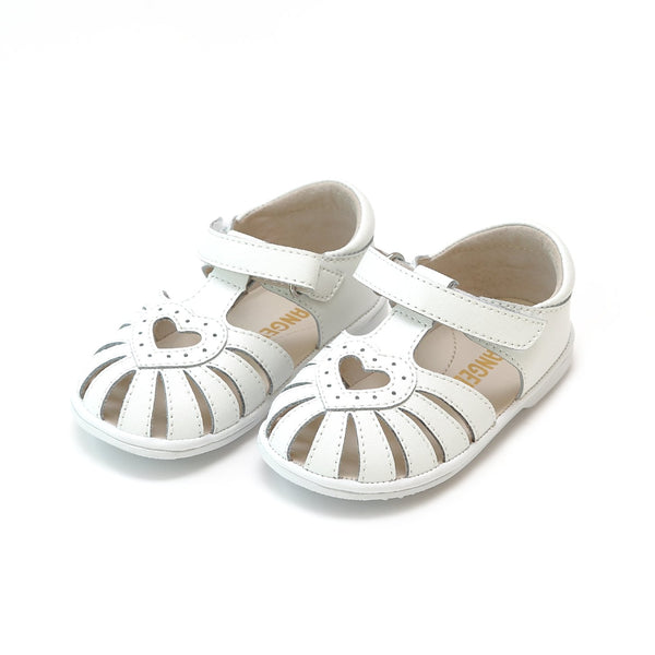 Emmie Open Heart Sandal (Baby) - White - NEW!