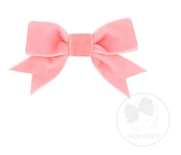 MINI VELVET TWO-LOOP BOW WITH FANCY CUT TAIL