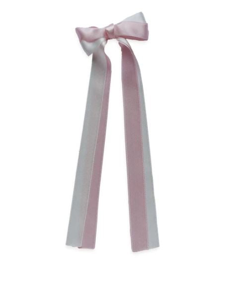 DOUBLE PASTEL SATIN LONG TAIL BOW