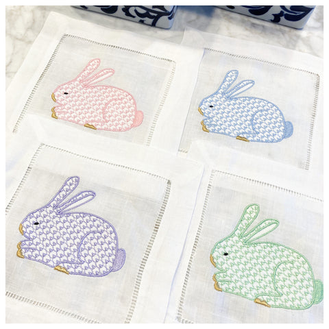 CHIC EASTER BUNNY COCKTAIL NAPKINS