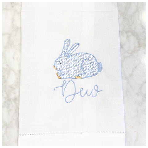 CHIC EASTER BUNNY TEA TOWEL