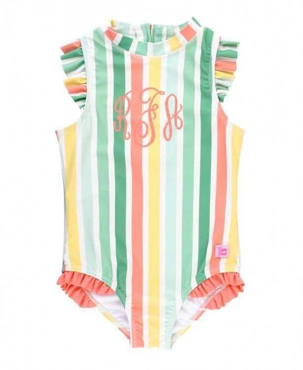 Saltwater Stripe Flutter One Piece