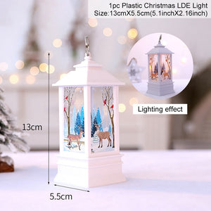 Cute Christmas Santa Claus Snowman Elk Light Ornaments Christms 2021 Merry Christmas Decor for Home Xmas Gift Happy New Year