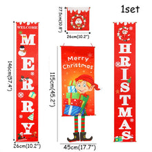 Load image into Gallery viewer, Merry Christmas Decorations For Home 2020 Ornaments Garland New Year Noel Porch Sign Xmas Door Decor Hanging Cloth navidad Gifts