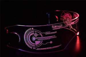Neon Nightlife LED Light Up Glasses, Cyberpunk Goggles