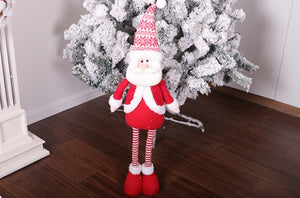 Christmas retractable santa snowman elk doll