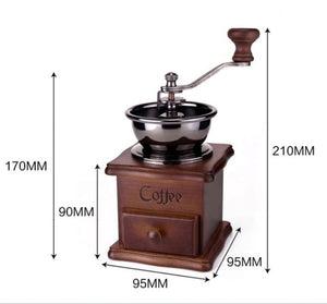 Retro hand crank coffee grinder