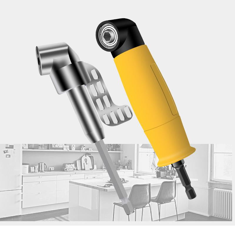 Right angle screwdriver for electric drill corner device