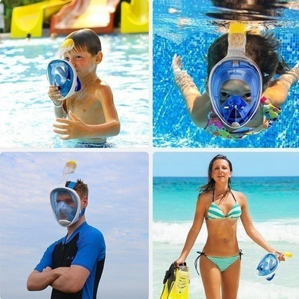 Full face leakproof breathing diving mask panoramic mask