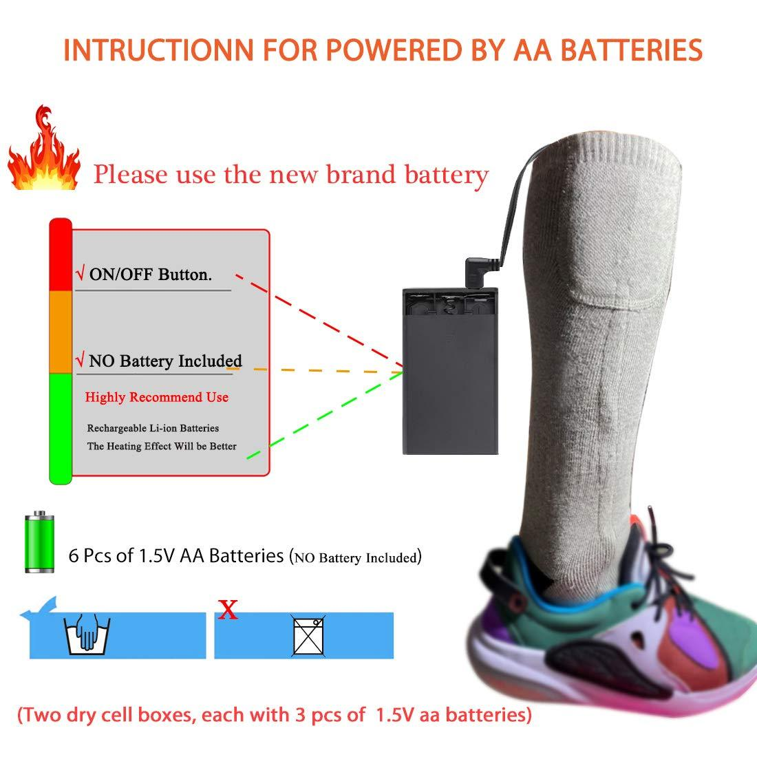 Male and female rechargeable heating socks, keep warm for up to 18 hours, the heating element is upgraded to 158℉