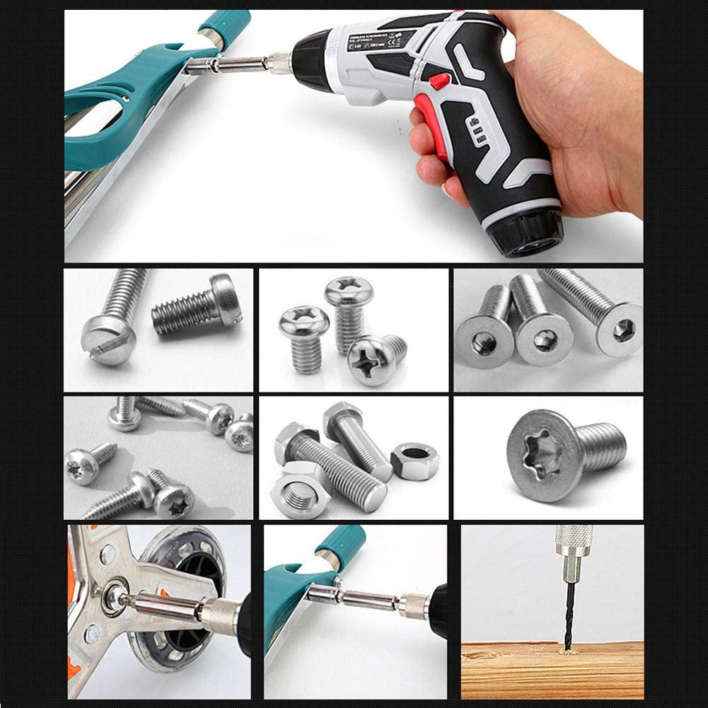 Multifunctional rechargeable electric screwdriver set