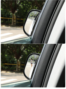 B-pillar car rear view mirror auxiliary mirror