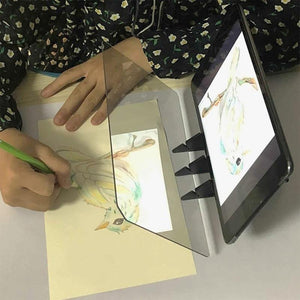 Portable optical projection drawing board