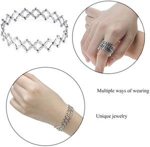 A dual purpose-telescopic ring into a bracelet